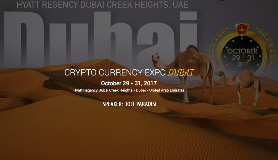 Joff Paradise Founding Member TCC Speaker Cryptocurrency Expo Dubai